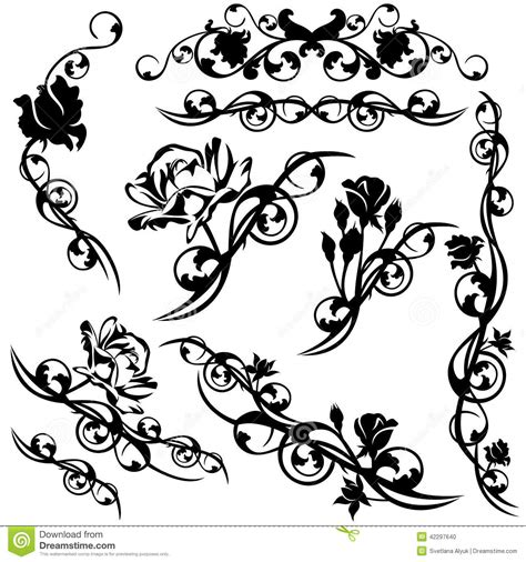 roses design set stock vector image 42297640
