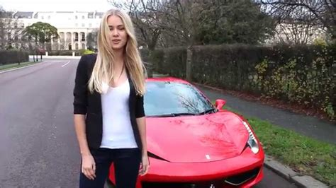 Ferrari Girls by Girl Driving Her Brand New Ferrari 458 Spider Youtube