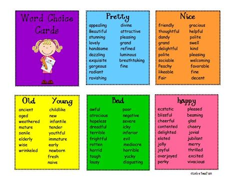 overused word substitute cards pdf could make