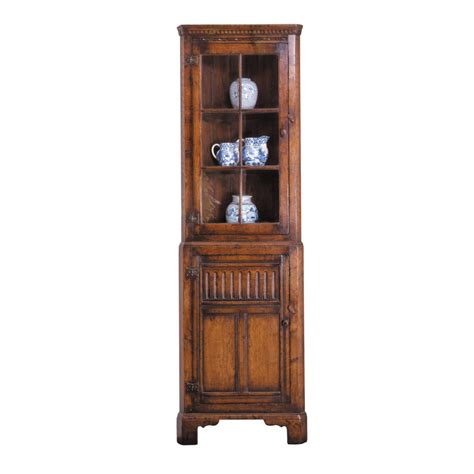 corner cabinet with glass doors oak corner cabinet with glass doors