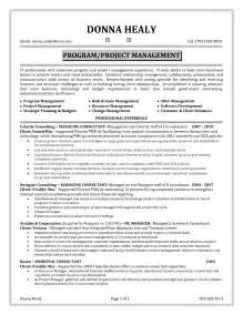 Project Management Resume Objectives by Sle Project Manager Resume Exle Project Management Resume Summary Exles Project