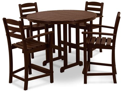 Set By Zm Collection polywood 174 la casa caf 174 recycled plastic 5 counter