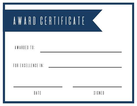 award templates free printable award certificate template paper trail design