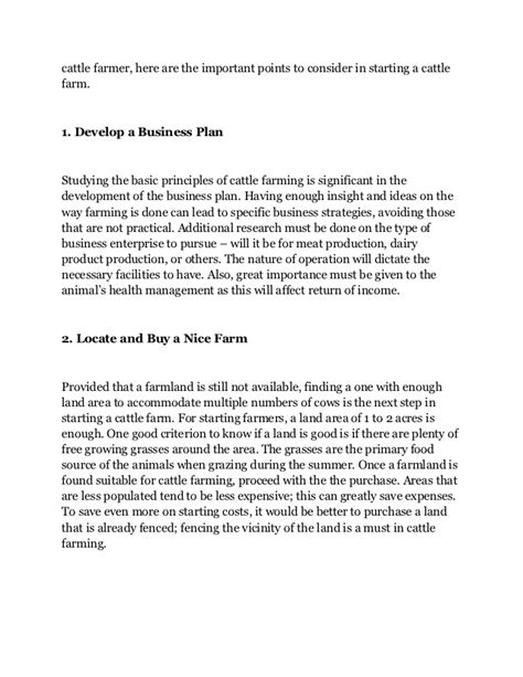 livestock business plan template cattle farming business plan