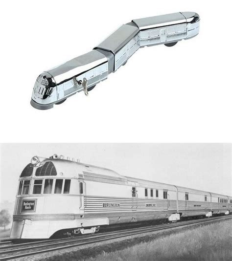 chrome zephyr burlington zephyr chrome tin train nova68 modern design