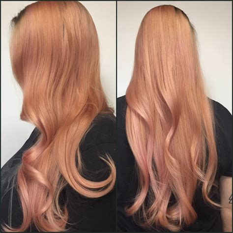 rose gold hair pravana transforming to rose gold striking but soft on the eye