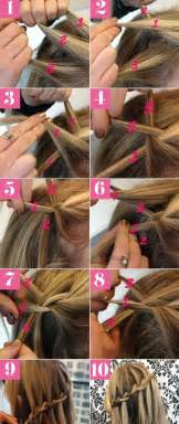 how to braid hair step by step 10 best waterfall braids hairstyle ideas for long hair