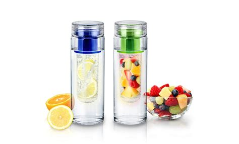 Botol Minum Infuser H2o 650ml Blue infusion h20 water bottle