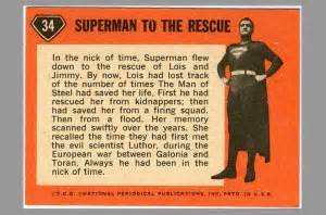 Its Superman To The Rescue 2 by Jerry Siegel Personal Collection Topps Adventures Of