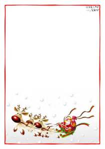 Santa Claus Letter Template by Letter To Santa Claus Blank Paper Template Sleigh Background 4