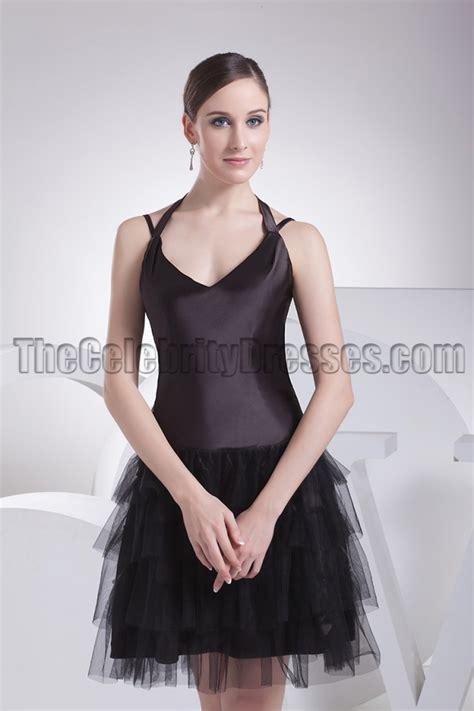 cute halter    black dress party dresses