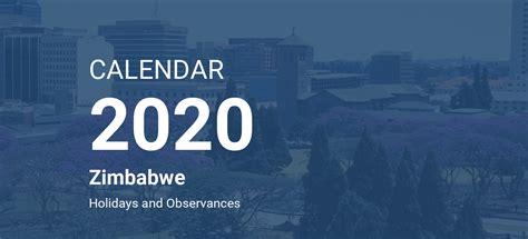 year  calendar zimbabwe