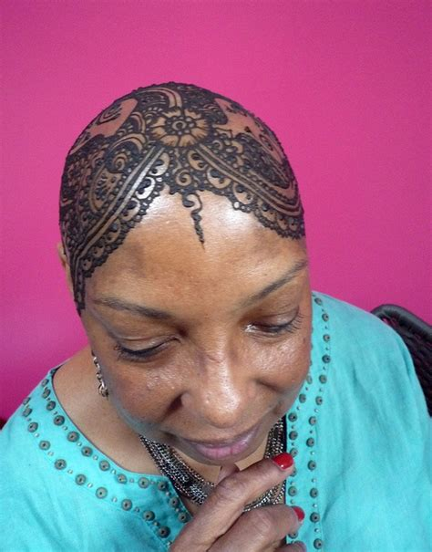 henna tattoo on bald head m s second go at a hennaed by kenzilicious via