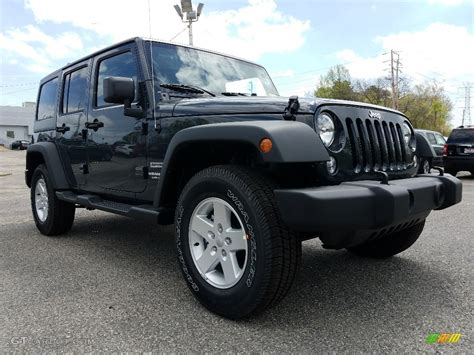 jeep wrangler unlimited colors 2017 black jeep wrangler unlimited sport 4x4 120201391