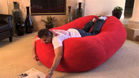 8 ft bean bag sofa the larson 8 foot bean bag bed youtube