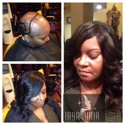 sew in weave for alopecia inya hair salon gallery transformations
