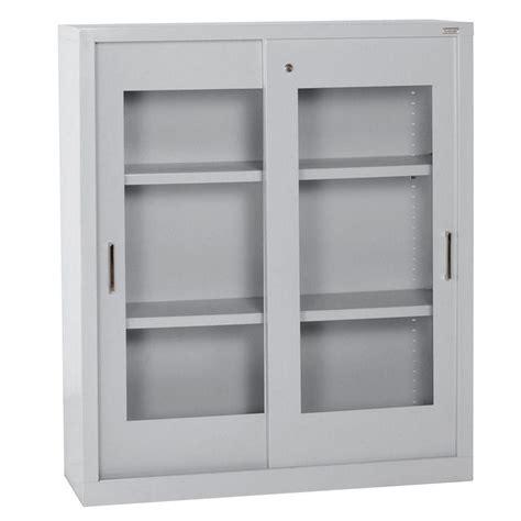 sandusky sliding door storage cabinets sandusky 42 in h x 36 in w x 18 in d steel freestanding