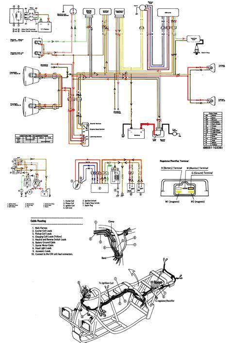 kawasaki 1988 klf220 a1 bayou wiring diagram atvs