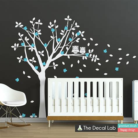 Owl Nursery Decor Ideas Baby Room Wall Decals Tree And Owl Wall Decal Set Tree Wall