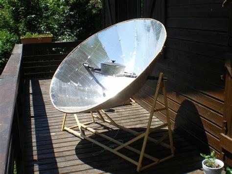 diy solar cooker parabolic solar oven page 1
