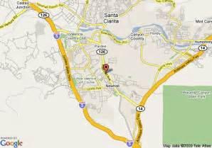 map valencia california map of santa clarita motel newhall