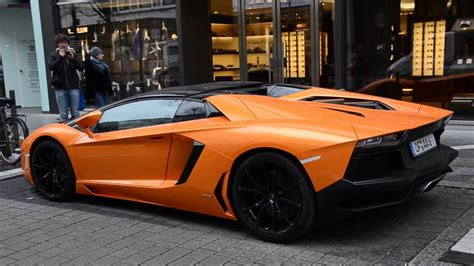 lamborghini aventador s roadster orange orange lamborghini aventador lp700 4 roadster walkaround and driveaway in frankfurt youtube