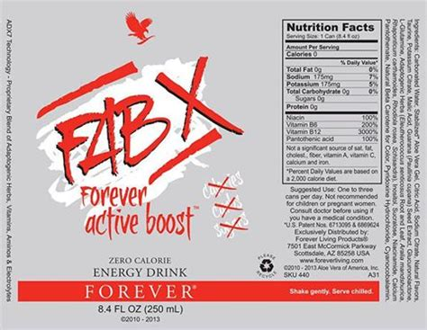 Fab X Il Super Energy Drink Della Forever Living Aloe Fab X From Forever Living Products
