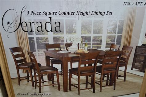 9 piece counter height dining room sets costco sale universal furniture serada 9 piece square