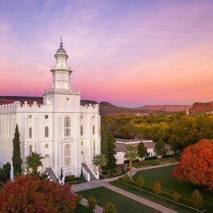 st. george temple summer sunset lds temple pictures