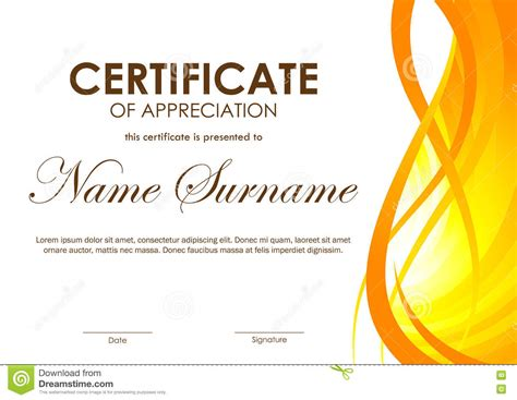 certificate of appreciation formal template