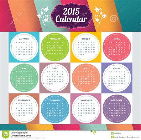 design of calendar 2015 vector template design calendar 2015 with paper page for