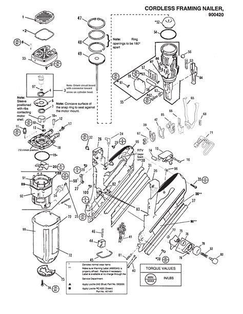 paslode framing nailer parts diagram buy paslode 900420 imct replacement tool parts paslode