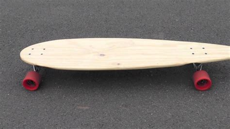Handmade Longboards - longboard pintail deck handmade from pine shelf 163 7