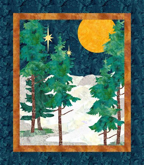 Blue Moon Downloadable Quilt Pattern Landscape Quilt Patterns