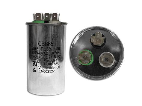 que es capacitor dual capacitor trabajo dual 30 5 mf redondo aluminio 370 440v redhogar