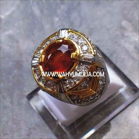 Batu Cincin Garnet Hitam batu cincin mandarin garnet kode 135 wahyu mulia