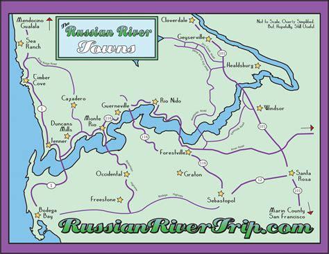 russian river california map russian river towns russianrivertrip
