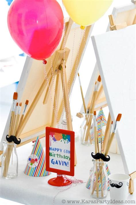 Mustache Themed Party Decorations - kara s party ideas colorful art party with tons of ideas free printables tutorials