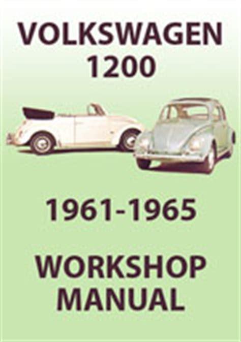manual repair free 1965 volkswagen beetle on board diagnostic system volkswagen 1200 beetle type 1 workshop repair manual