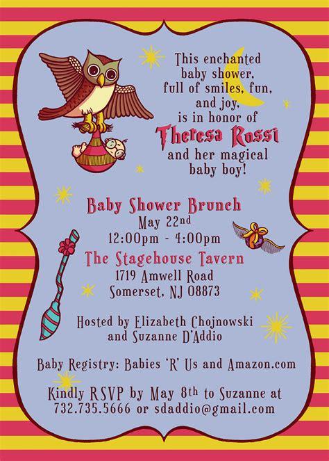 Harry Potter Baby Shower Invitation On Behance Harry Potter Baby Shower Invitation Template Free