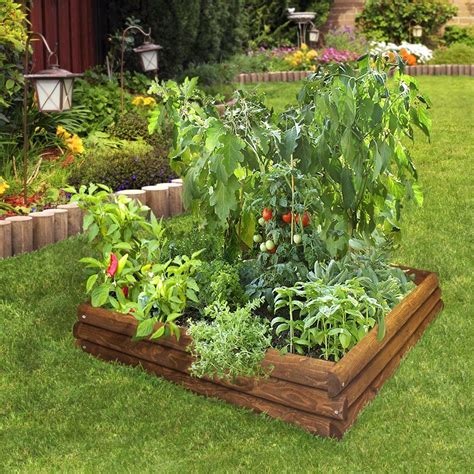 Raised Garden Bed Plans Using Treated Wood The Garden Treated Pine Vegetable Garden