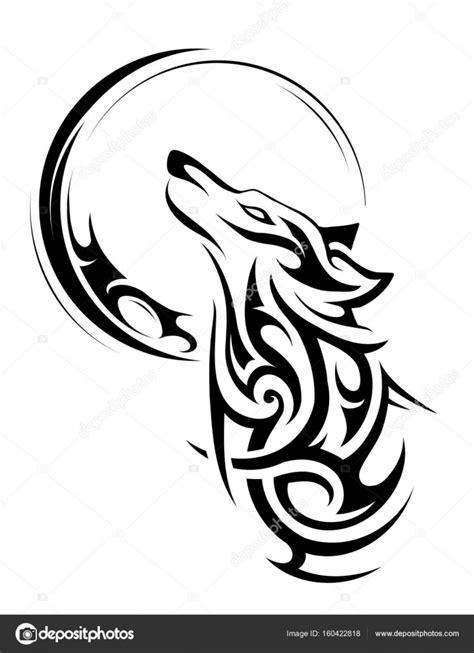 Tribal wolf tattoo — Stock Vector © akv_lv #160422818