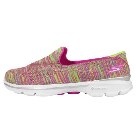 Skecher Go Walk 3 Womens Original skechers go walk 3 fitknit multi color womens walking shoes 13987mult ebay