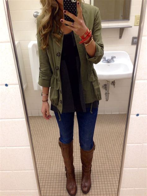 Word O Ryu Outer Army Green bathroom photo but i the army green jacket