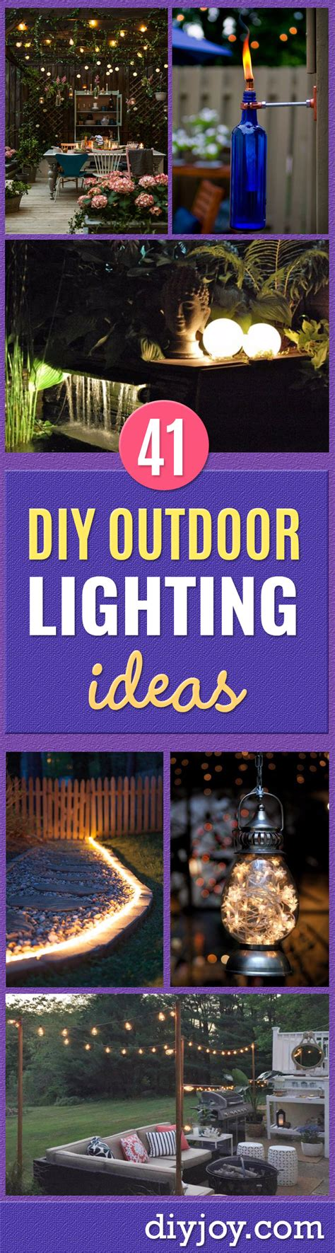 diy outdoor lighting ideas 41 diy outdoor lighting ideas