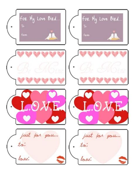 printable gift tags for valentines free valentine s gift tag printable be my valentine
