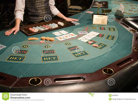 holdem vegas table casino table royalty free stock photography