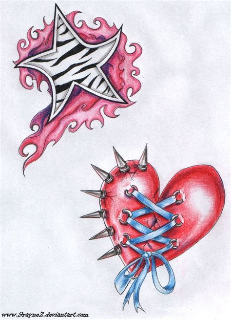 stars and heart tattoos designs 36 best ornate tattoos hearts and images on