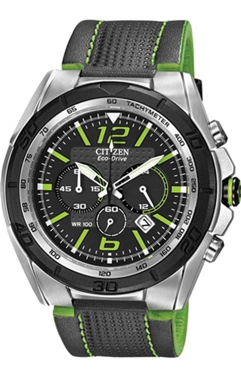 Guess Vv Silver citizen eco drive brt ca4144 01e black green chronograph stainless steel