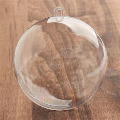 100mm clearfillable bauble 100mm clear acrylic fillable ornament acrylic fillable ornaments craft supplies